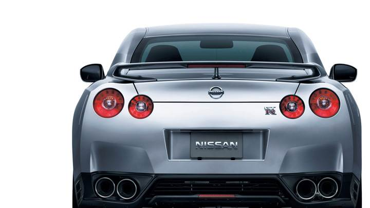 Back Pose of 2012 Nissan GT-R In Silver