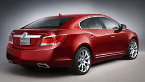 Back Side Pose Of 2010 Buick LaCrosse CXS In Red