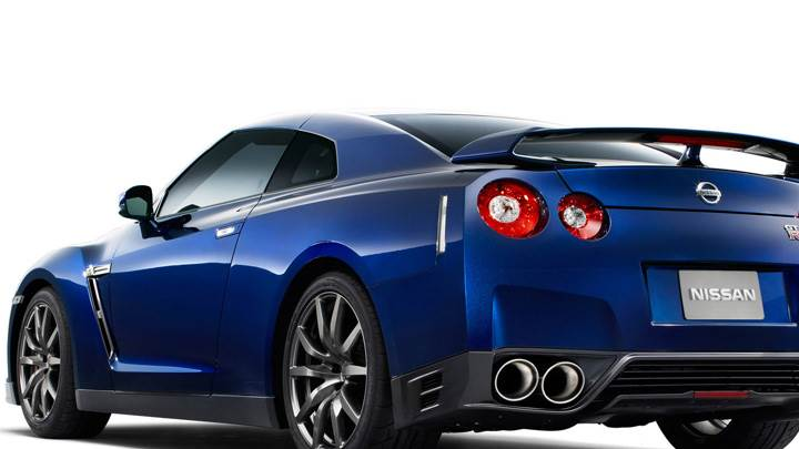 Back Side Pose Of 2012 Nissan GT-R In Blue