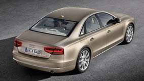 Back Top View Of 2011 Audi A8 In Golden