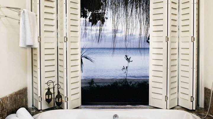 Bathtub Side Door Sea View