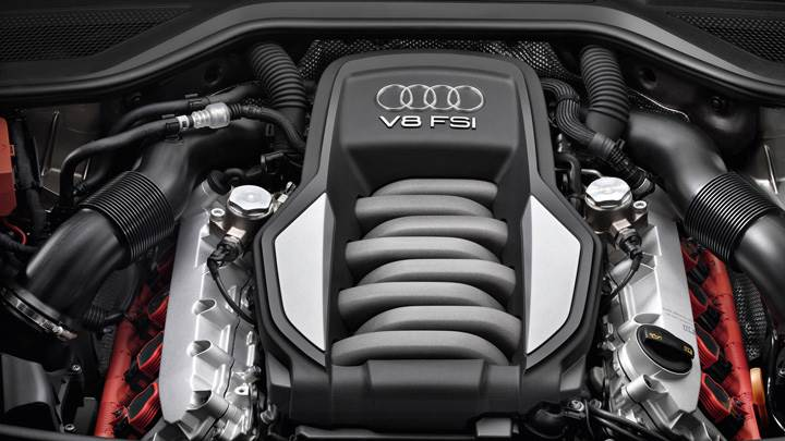 Engine Closeup Of 2011 Audi A8