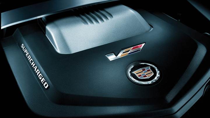 Engine Closeup Of 2011 Cadillac CTS-V
