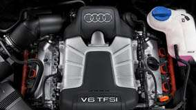Engine Closeup Of 580PS Audi RS 6 – V6 TFSI
