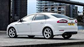 Ford Mondeo Side Pose In White