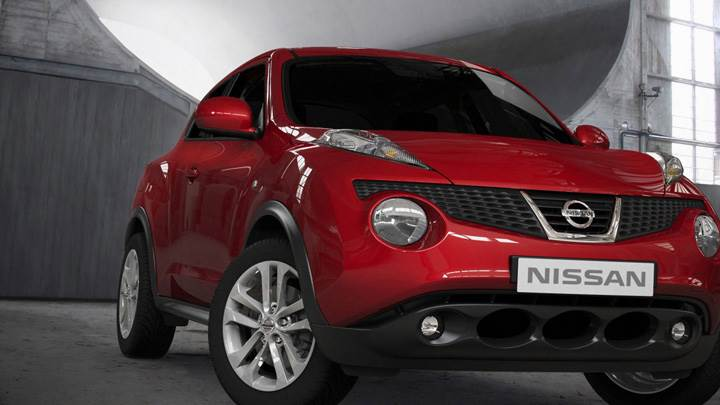 Front Of 2011 Nissan Juke In Red