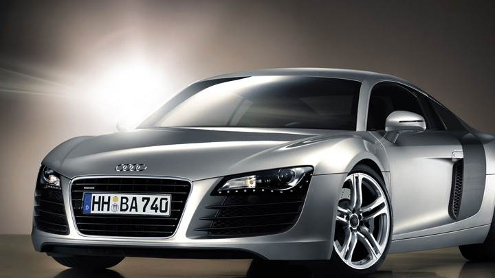 Front Pose Of 2006 Audi R8 In Silver