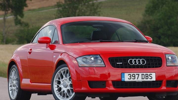 Front Pose Of 2003 Audi TT Coupe In Red