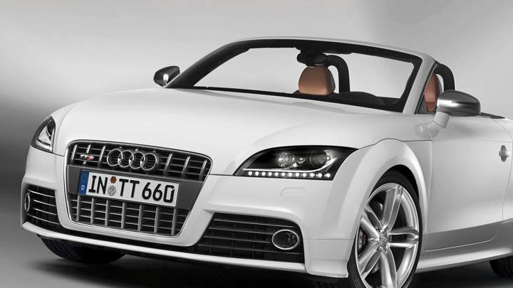 Front Pose Of 2009 Audi TTS In White
