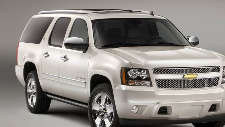 Front Pose Of 2010 Chevrolet Suburban 75th Anniversary Diamond Edition In White