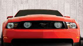 Front Pose Of 2010 Mustang Saleen 435-S in Red