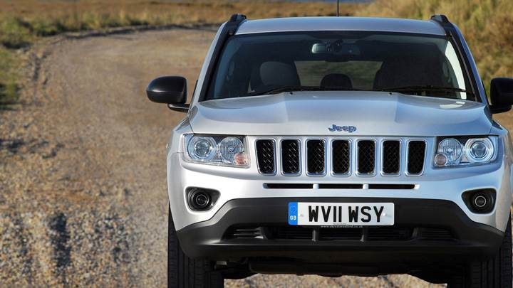 Front Pose Of 2011 Jeep Compass UK In Silver