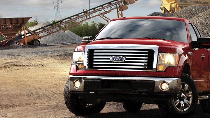 Front Pose Of 2012 Ford F-150 In Red