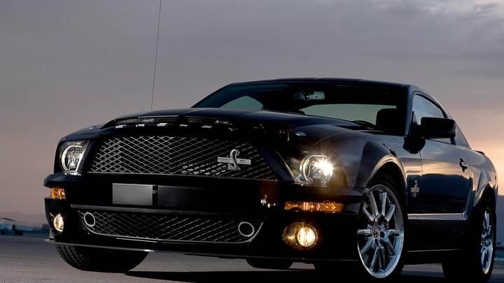 Front Pose oF 2008 Ford Shelby GT500KR In Black