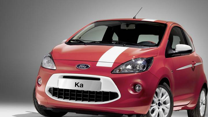 Front Pose of 2008 Ford Ka Grand Prix In Red