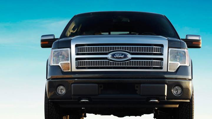 Front Pose of 2009 Ford F-150 Platinum In Black