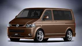 Front Side Pose 2010 ABT Volkswagen T5 Van Facelift In Brown