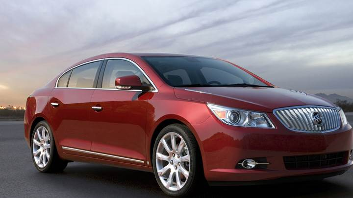 Front Side Pose 2010 Buick LaCrosse CXS In Red