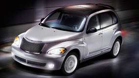 Front Side Pose Of 2009 Chrysler PT Cruiser In Silver