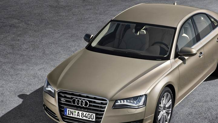 Front Top View Of 2011 Audi A8 In Golden