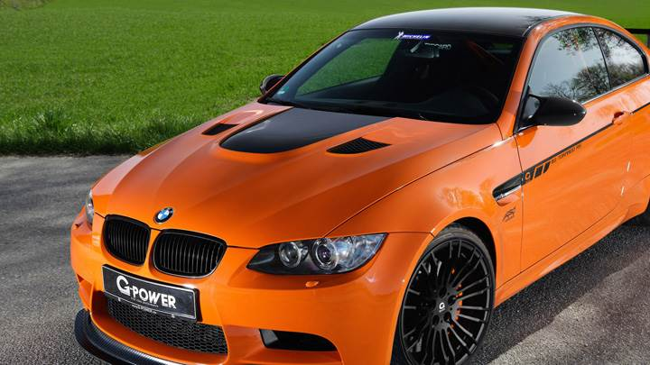 G Power BMW M3 Tornado RS Front Top Pose In Orange