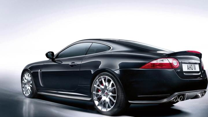 Jaguar XKR-S Side Back Pose In Black