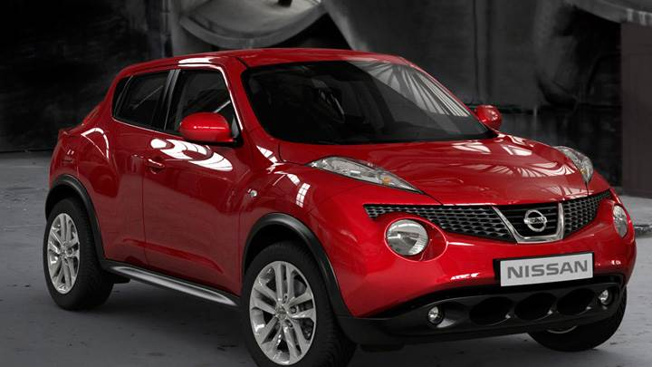 Nissan Juke 2011 Front Side Pose In Red