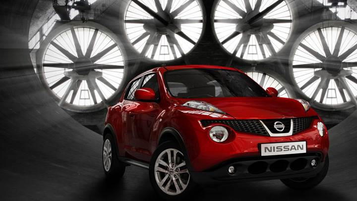 Nissan Juke 2011 In Red Front Pose