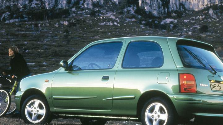 Nissan Micra Side Pose In Green At 25th Anniversary