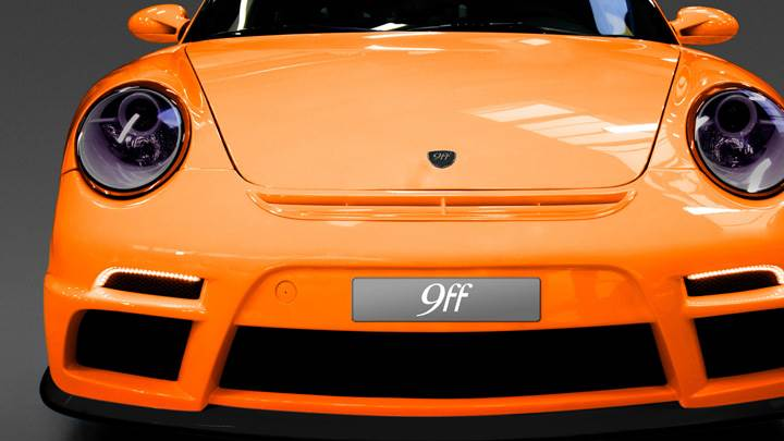 Porsche 9ff DR640 Front Pose In Orange