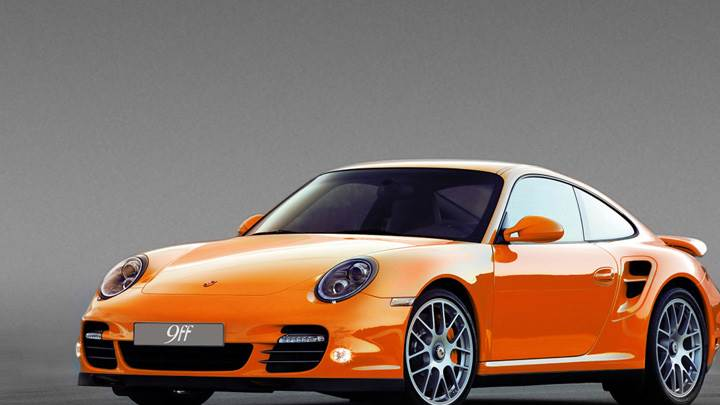 Porsche 9ff DR640 Front Side Pose In Orange