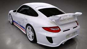 Porsche 9ff GTurbo Side Back Pose In White