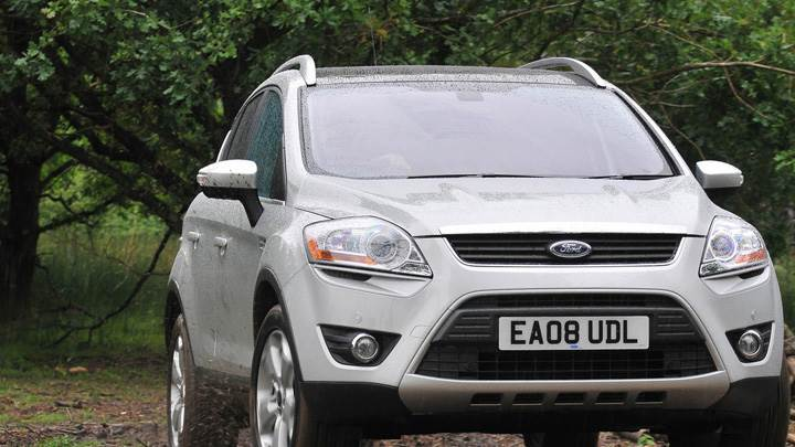 Ruuning 2008 Ford Kuga In Silver Front Pose
