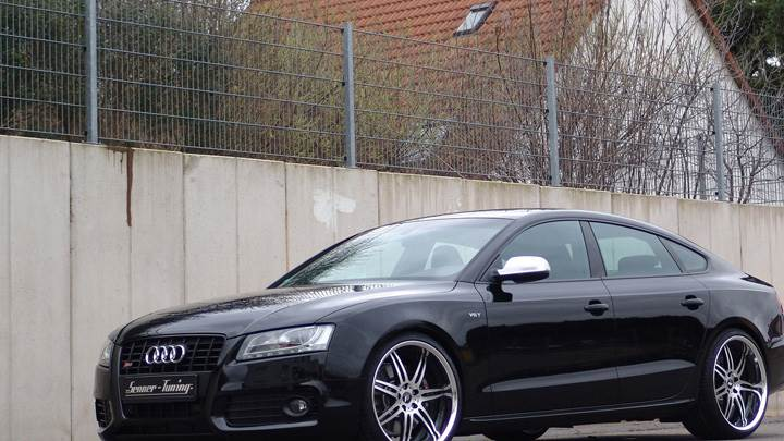 Senner Audi S5 Sportback Side Pose In Black