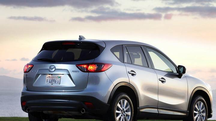 Side Back Pose Of 2013 Mazda CX-5 In Silver