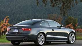 Side Back Pose Of Audi S5 In Grey