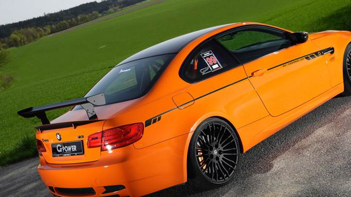 Side Back Pose Of G Power BMW M3 Tornado RS In Orange