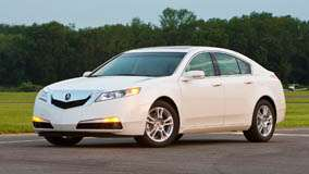 Side Front Pose 2009 Acura TL  In White