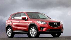 Side Front Pose 2013 Mazda CX-5 in Red