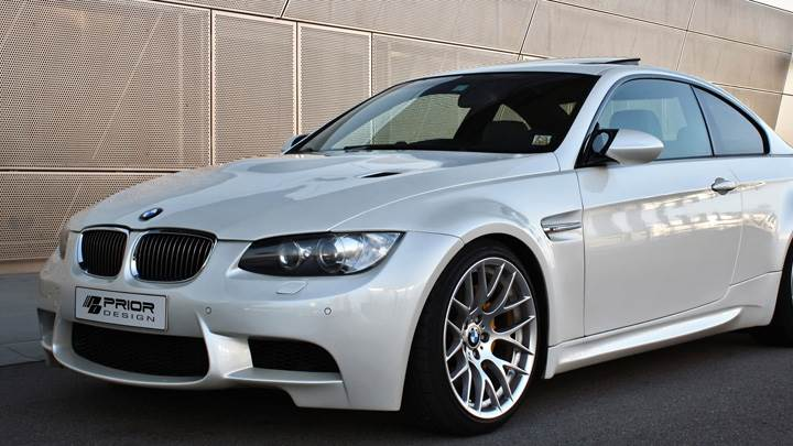 Side Front Pose Of Prior Design BMW E92 N E93 M3-Style Wide Body Kit In White