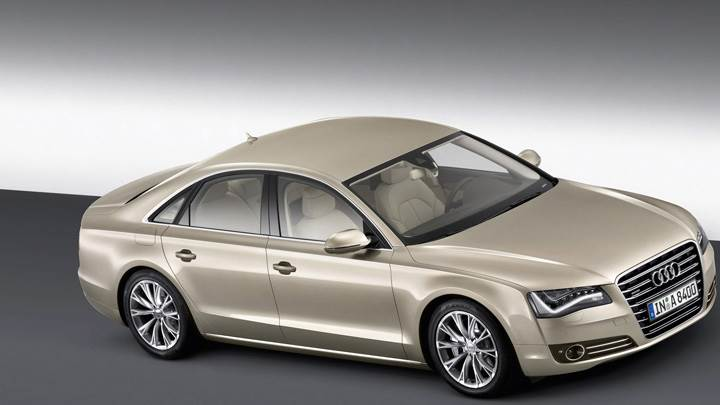 Side N Top View Of 2011 Audi A8 In Golden