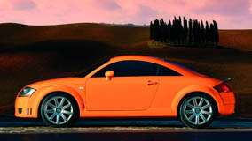 Side Pose Of 2003 Audi TT In Orange