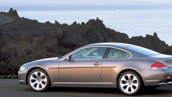 Side Pose Of 2003 BMW 6 Series Coupe Near Sea Side