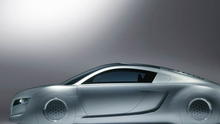 Side Pose Of 2004 Audi RSQ Sport Coupe Concept