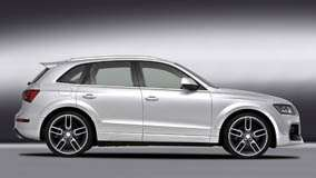 Side Pose Of 2009 Audi Q5 Caractere  In White N Grey Background