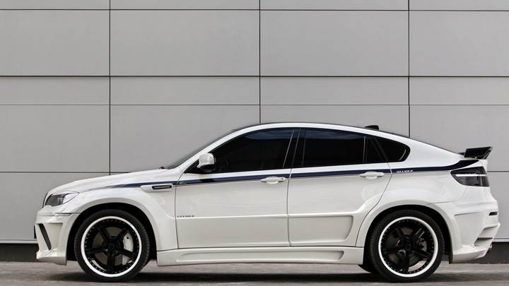 Side Pose Of 2010 BMW X6 Lumma Design In White