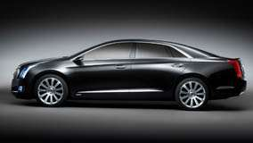 Side Pose Of 2010 Cadillac XTS Platinum Concept In Black