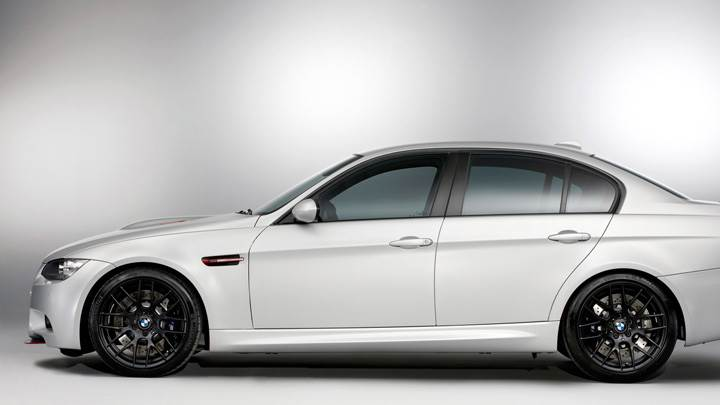 Side Pose Of 2011 BMW M3 E90 CRT In White