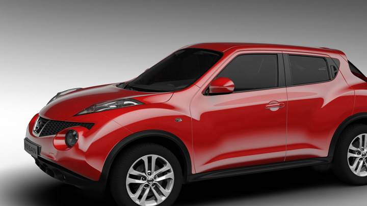 Side Pose Of 2011 Nissan Juke In Red