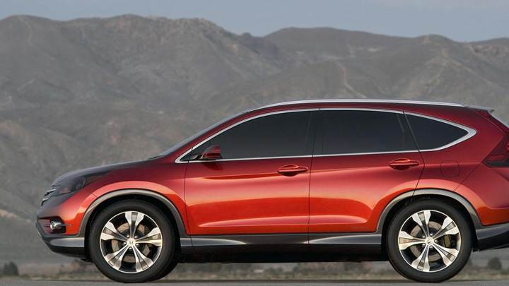 Side Pose Of 2012 Honda CR-V Concept In Red